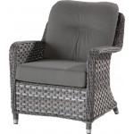 4 Seasons Outdoor Eldorado lounge stoel met 2 kussens - Duet Charcoal