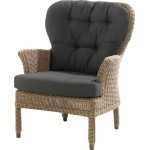 4 Seasons Outdoor Buckingham lounge stoel met 2 kussens - Pure