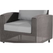 4 Seasons Outdoor Aspen lounge stoel met 2 kussens - Polyloom Titanium